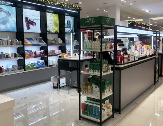 smartwall, cosmetics display. tower