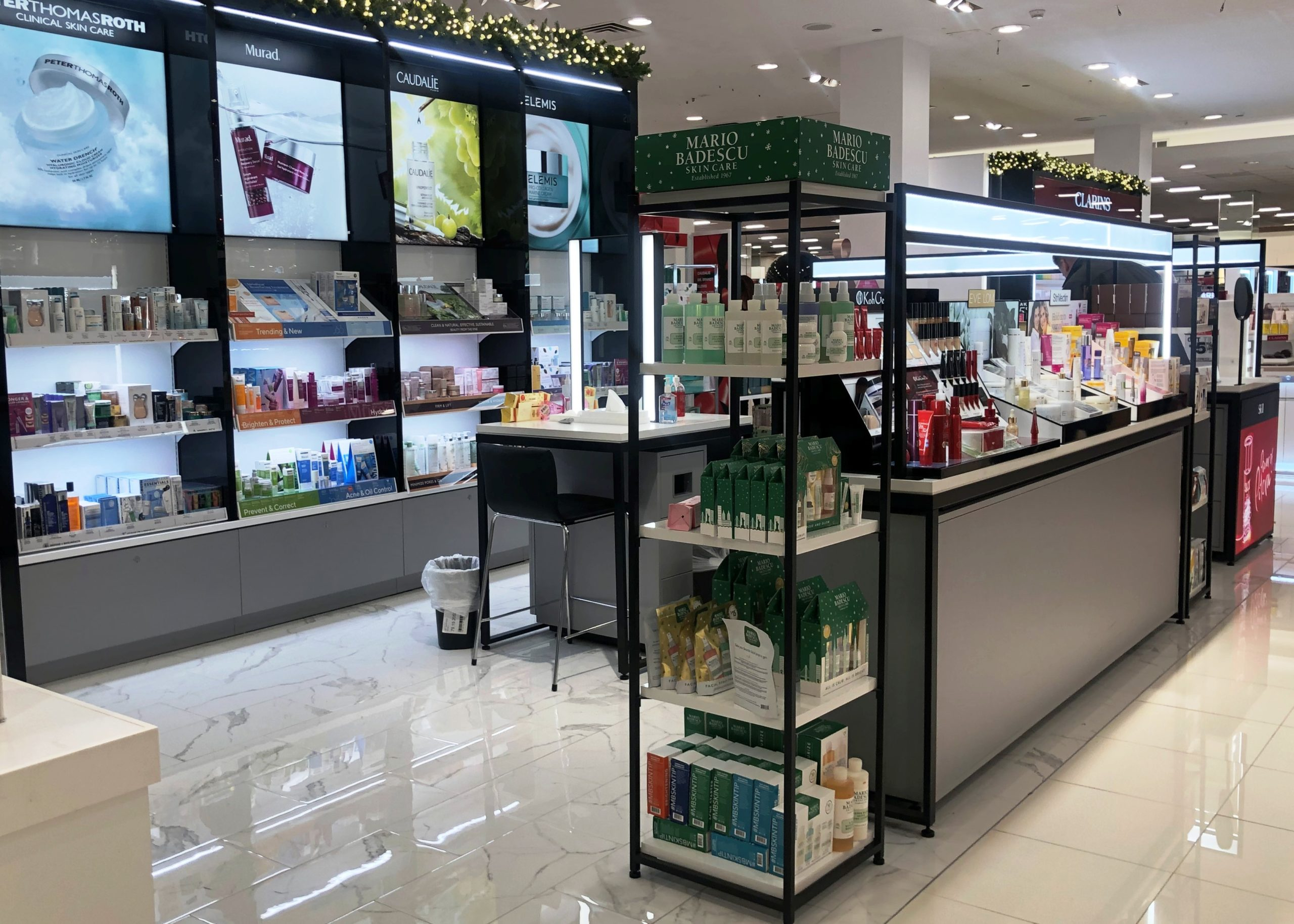 smartwall, cosmetics display. tower