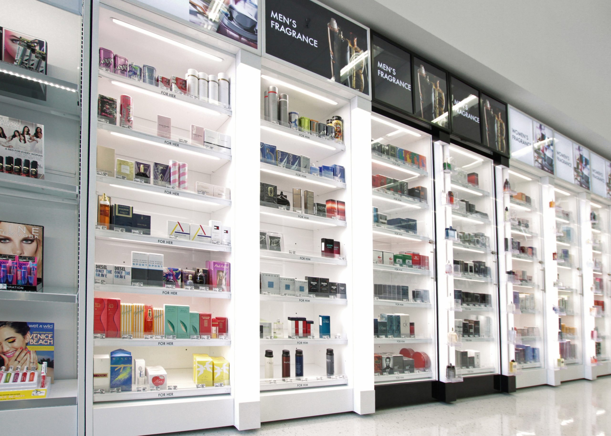 health care fixture, Fragrance Display