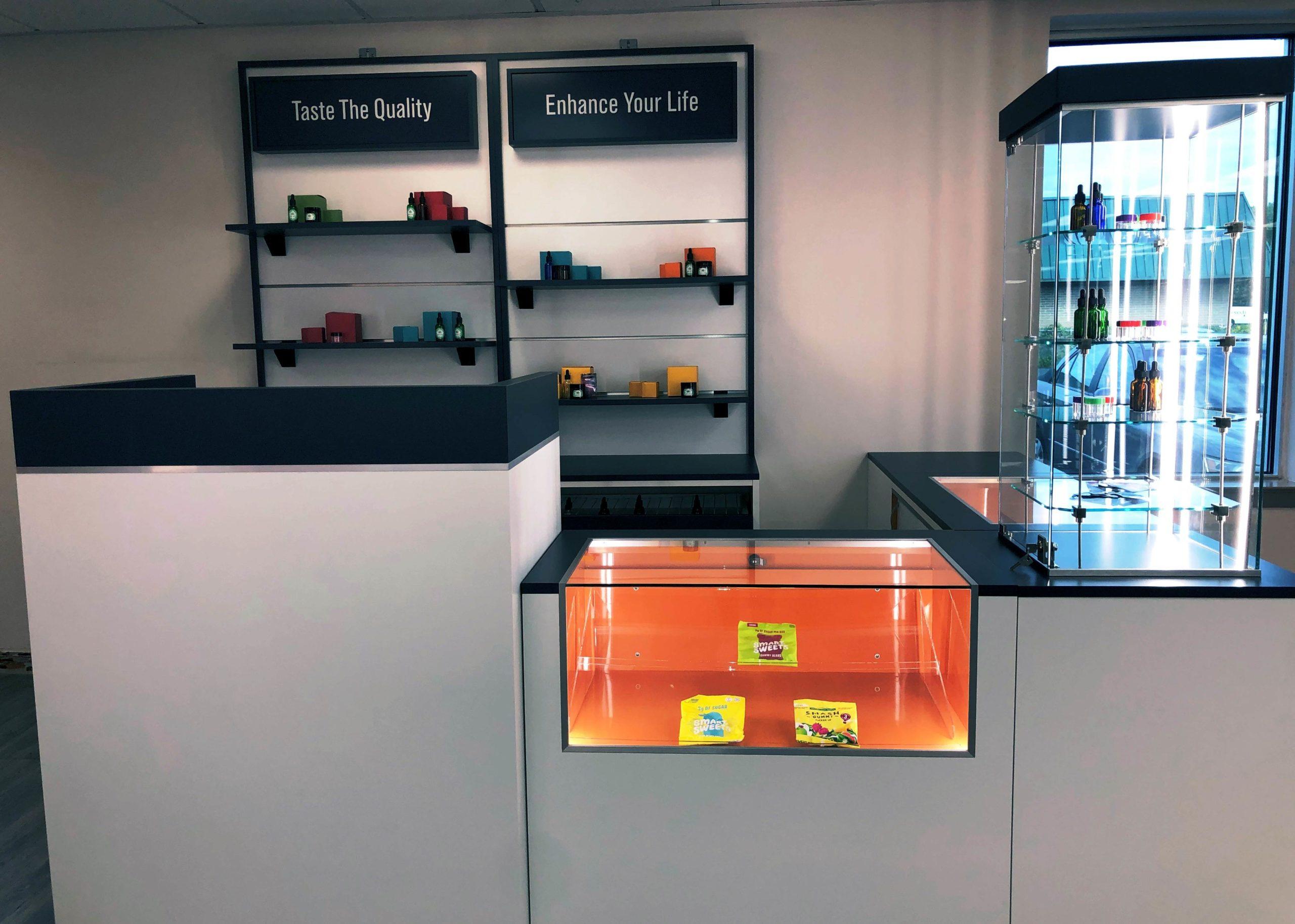 Cannabis display, Cannabis showcase, Cannabis fixture