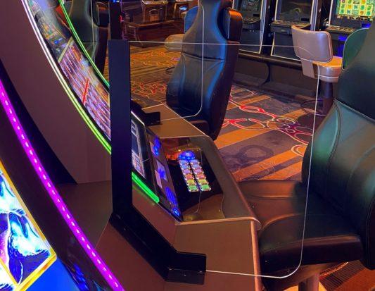 casino, gaming, slot base, plexi divider, COVID-19 SAFETY / SLOT DIVIDERS