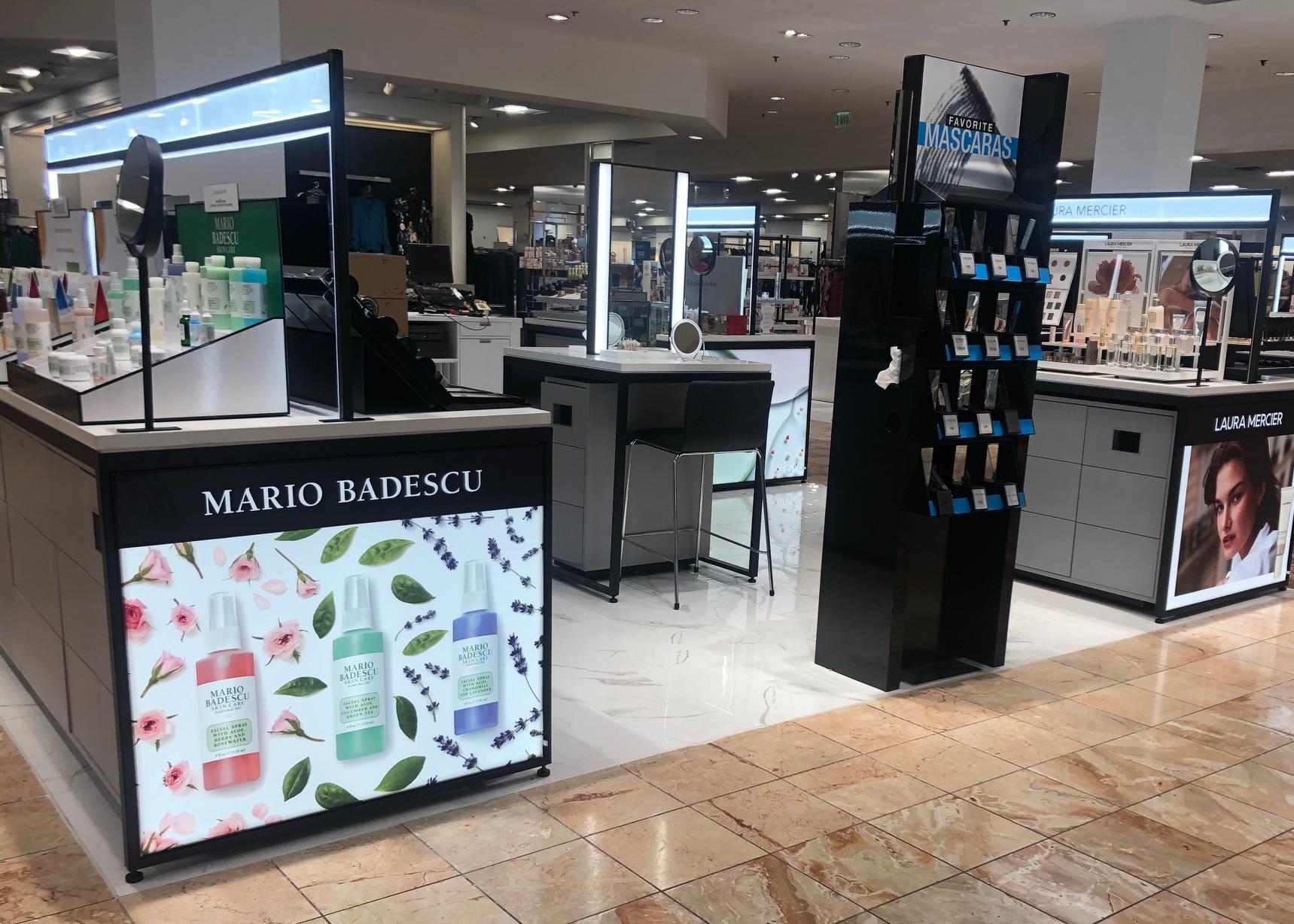 beauty fixtures, Gondola Shelving, retail store fixtures, Wall Displays, Freestanding Displays, cosmetics display