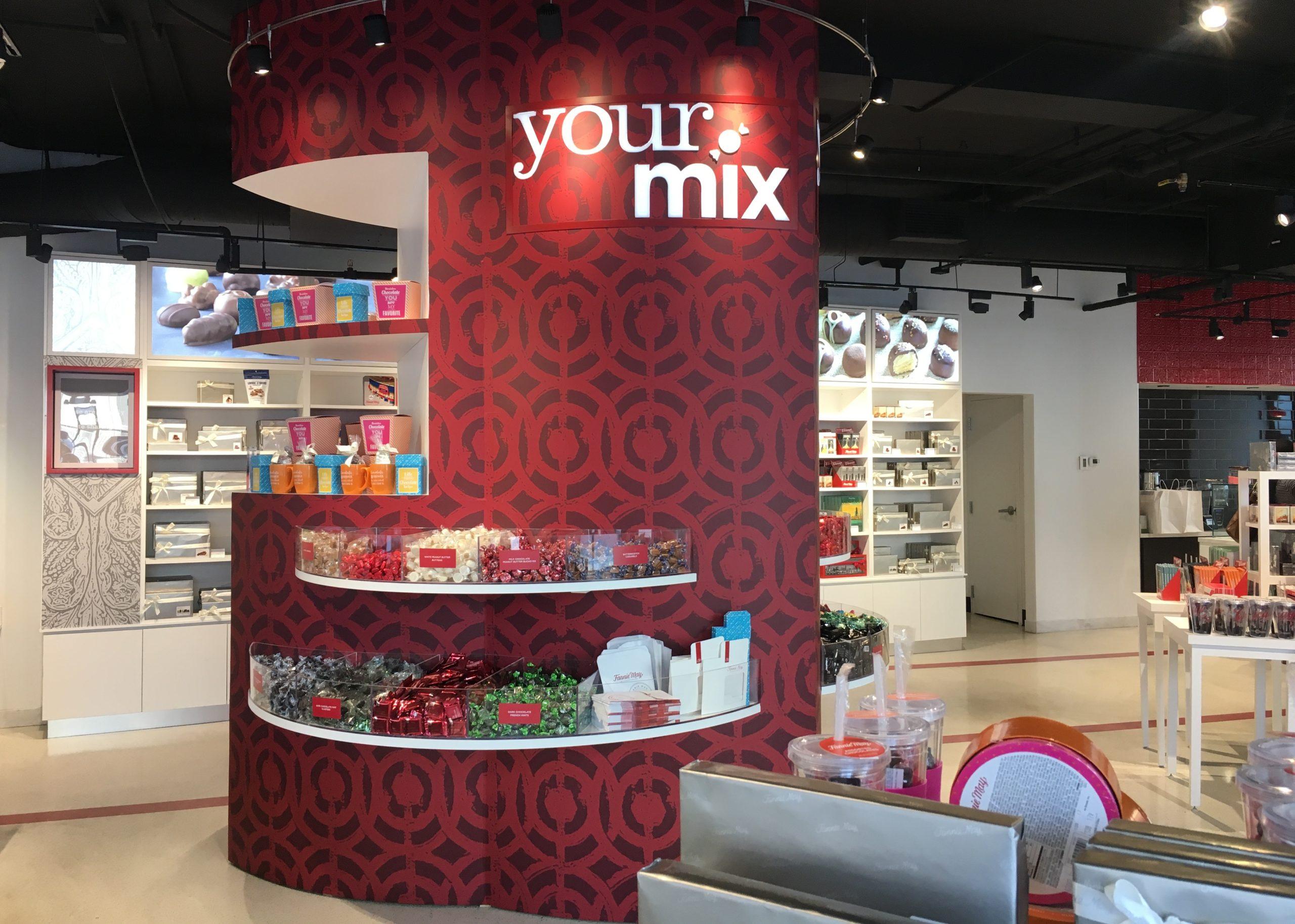 custom millwork, column wrap, retail display