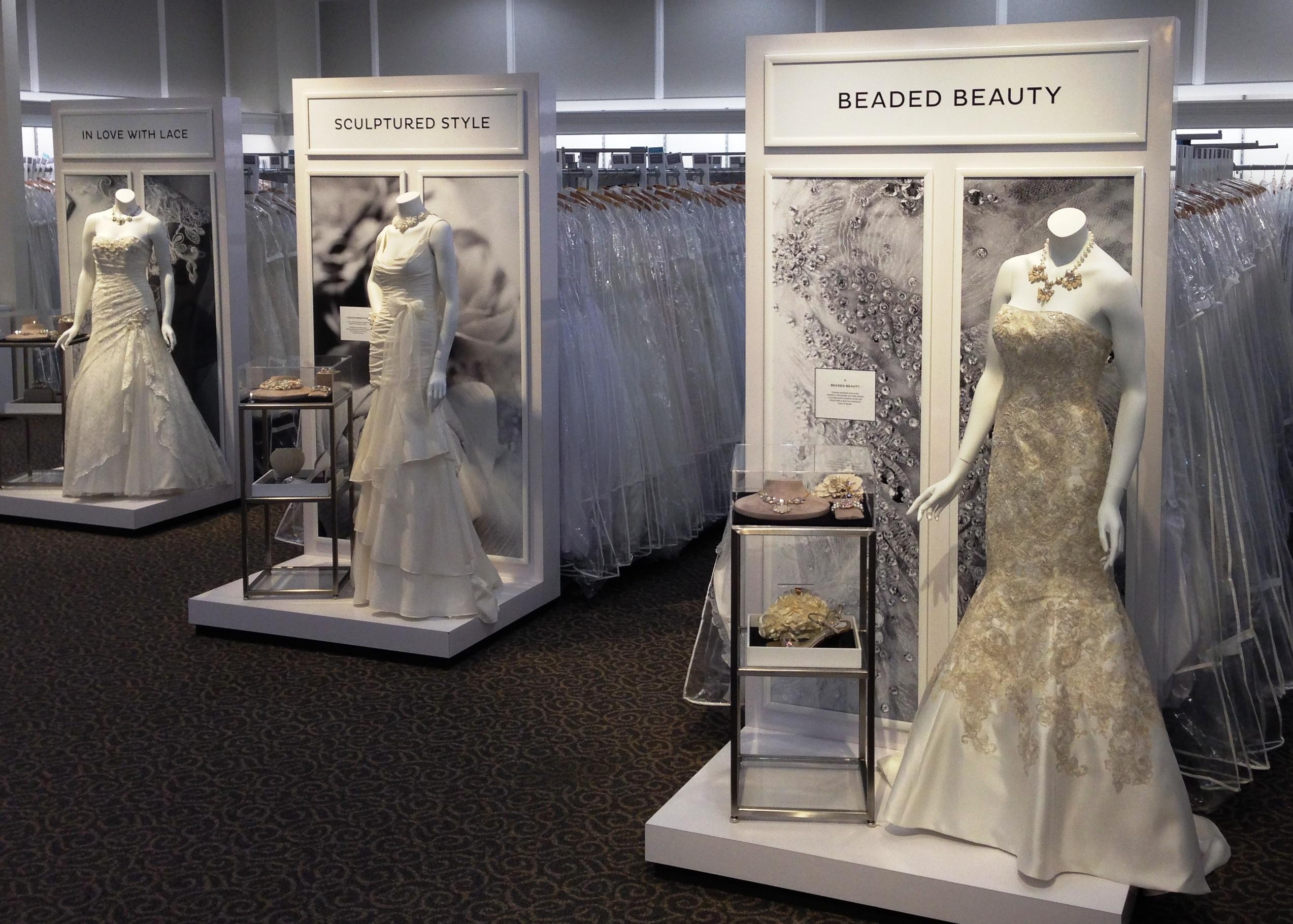 bridal fixture, dress display