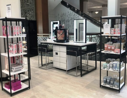 beauty fixture, cosmetic display, cosmetic fixture