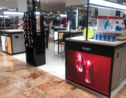 beauty fixtures, Gondola Shelving, retail store fixtures, Wall Displays, Freestanding Displays, cosmetics display,