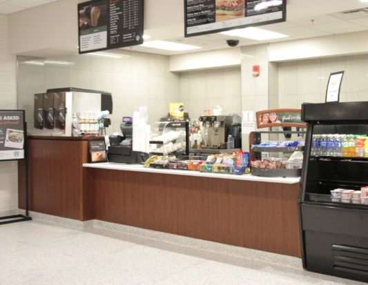 grocery checkout, Food Service, cash wrap, wall protection