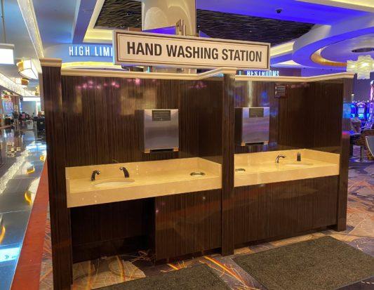 casino, gaming, slot base, hand wash station
